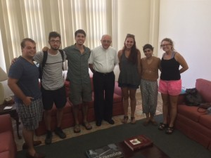 UA semester students meet with Mons. José Felix López, priest at Santa Rita in Miramar.