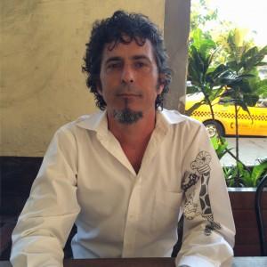 Cuban artist Ramón Vargas, Cafe Francesca, Havana, July 2015