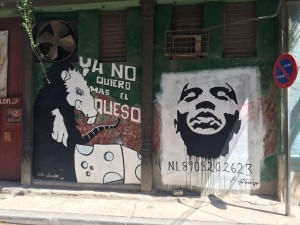 Tagging on the streets of Havana.