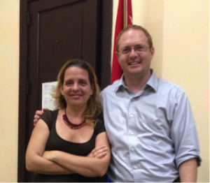 Dr. Patrick Frantom with Dr. Isel Pascual in Cuba, March 2015