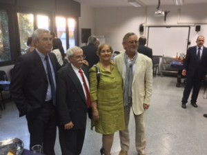 Julio Larramendi, Cuban ambassador to the Vatican and his wife, and Chip Cooper.