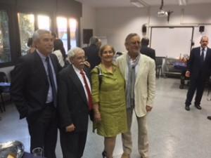 Julio Larramendi, Cuban ambassador to the Vatican and his wife, and Chip Cooper.