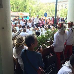 Musical performance, Hotel Inglaterra, Havana