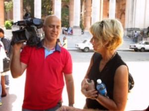 Pamela Tran with Pablo Ayala